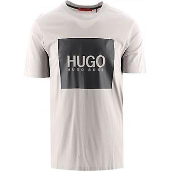 HUGO Grey Logo Box Print Dolive 214 T-Shirt
