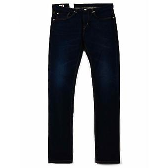 Edwin Jeans Slim Tapered Kaihara Selvedge Denim - Blue Dark Used