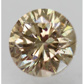 سيرت 0.50 Ct الأصفر البني VVS2 جولة رائعة تعزيز الماس الطبيعي 5mm 3EX