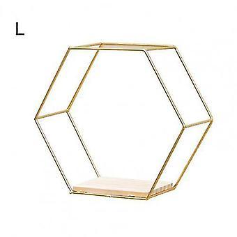 Estantes de pared hexagonales flotantes de estilo nórdico (Golden L)