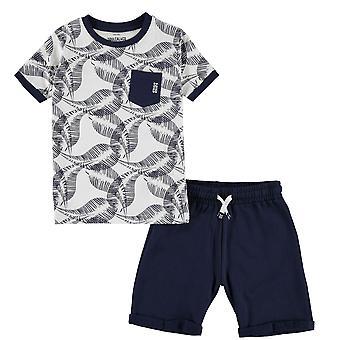 SoulCal Boys Shorts und T-Shirt Set Junior Kleidung Rundhalsausschnitt Leichtes Oberteil