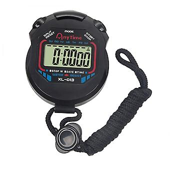 1pc Kjøkken Timere Klassisk Digital Profesjonell Håndholdt Lcd Kronograf Sport Stoppeklokke Timer Stoppur Med Streng
