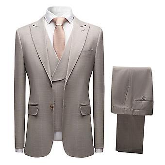 Mile Men's Mens Tuxedo Suits 3 Pieces Dinner Suit Wedding Formal Notched Lapel Blazer &trousers& Waistcoat