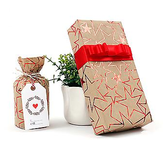 Gift Packing, Packaging Paper Christmas Gift, 8 Pieces 50 * 70cm (gold * 2 + Purple * 2 + Silver * 2 + Red * 2) (