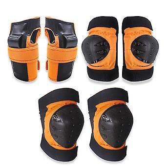 6pcs Protective Knee Pads,protective Gear With Elbow Wrist For Children Skating