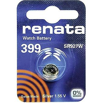 Renata 1.55 Volt Watch Battery 399 Replaces - Pack of 10 (SR927SW)