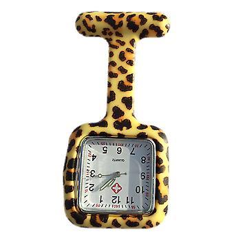 Boolavard® TM verpleegkundigen Fashion gekleurd patroon Silicone Rubber Fob horloges - vierkante Leopard