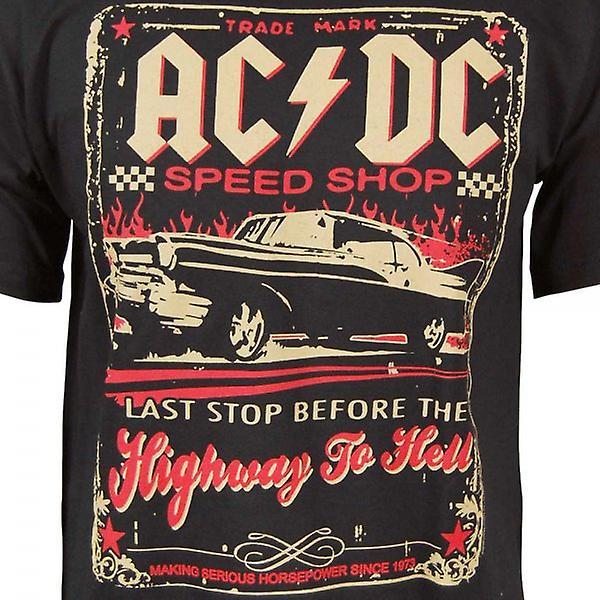 ACDC Mens ACDC vitesse Boutique T Shirt noir