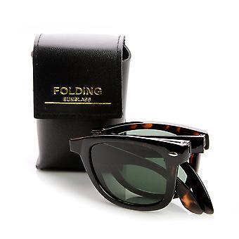 Limited Edition folde lommen Horn kantede solbriller + sag