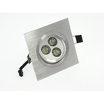 I LumoS High Quality Epistar 3 Watts Silver Square Aluminium LED Spot Downlight