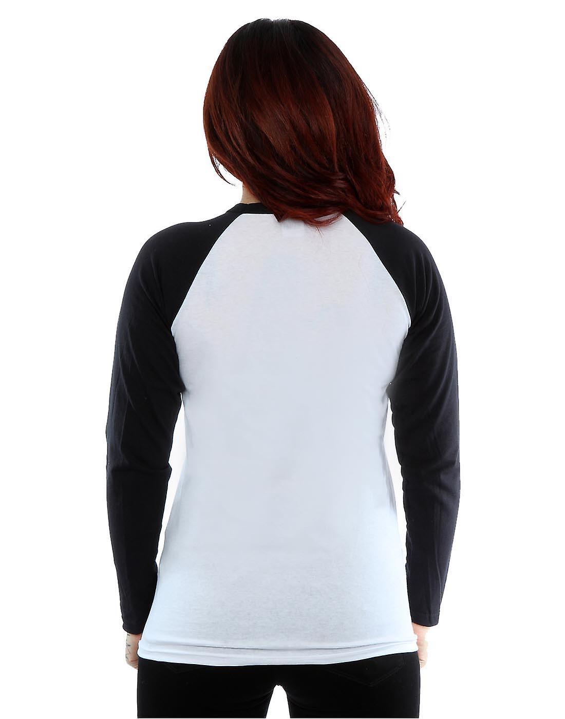 Marvel Women's Deadpool Splat Face Long Sleeved Baseball Shirt