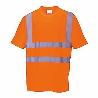 sUw - Hi-Vis Sicherheit Workwear T-Shirt Rail Track Seite RIS