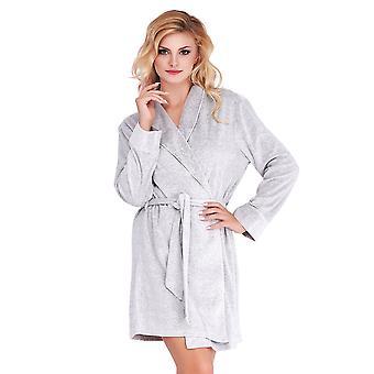 Mio Lounge Grey Velour Robe ML16V1RB