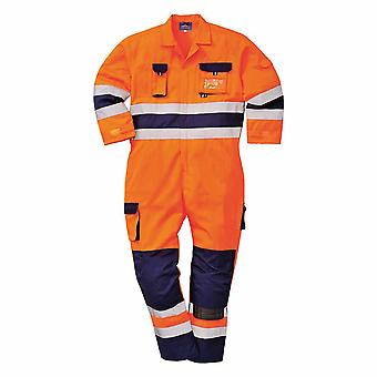 Portwest - Nantes Texo Workwear Uniform Two-Coloured Hi-Vis Safety Coverall