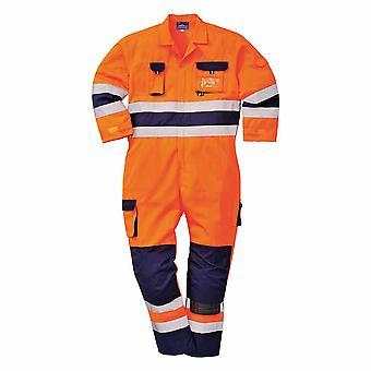 Portwest - Nantes Texo Workwear Uniform tofargede Hi-Vis sikkerhet kjeledress