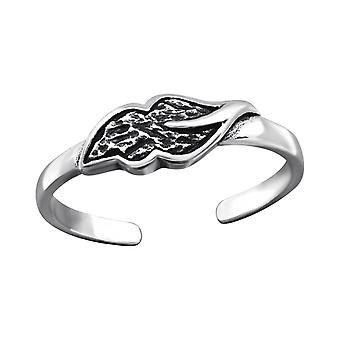 Leaf - 925 Sterling Silver Toe Rings - W27179x
