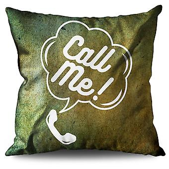 Call Me Funny Ring Linen Cushion 30cm x 30cm | Wellcoda