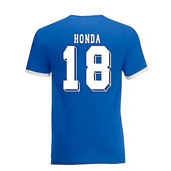 Keisuke Honda Japon Tee Ringer (bleu)