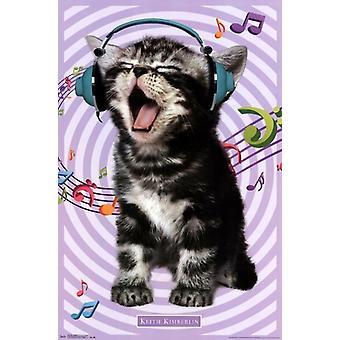 Gatinho - cantando 14 Poster Print