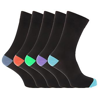 Pierre Roche Mens Cotton Rich Socks (Pack Of 5)