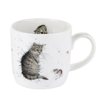 Royal Worcester Wrendale Cat and Mouse Single Mug