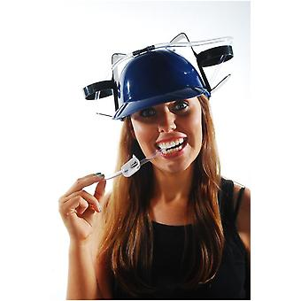 Chapeaux de potable casque rouge ou bleu