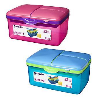 Sistema 2L Quaddies Set of 2, Pink and Blue