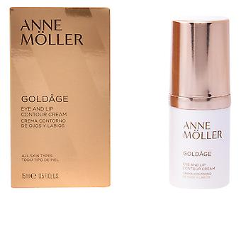 Anne Möller Goldâge Eye a LIP Contour smetana 15 ml pro ženy