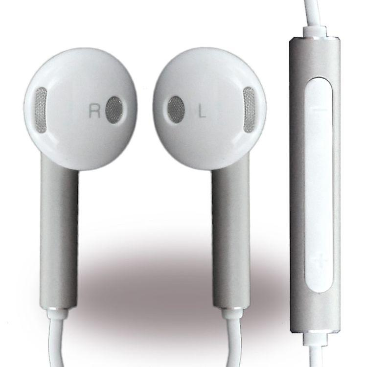 Huawei blister Am116 headset earphones with remote control, microphone white / silver for Smartphone