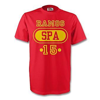 セルヒオ ・ ラモス スペイン スパ t シャツ (レッド) - 子供