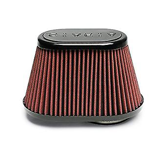 Airaid 721-431 Universal Clamp-On Air Filter: ovale affusolata; 3 pollici (76 mm) flangia ID; 5,25 pollici (133 mm) altezza; 8.5 in x 5.
