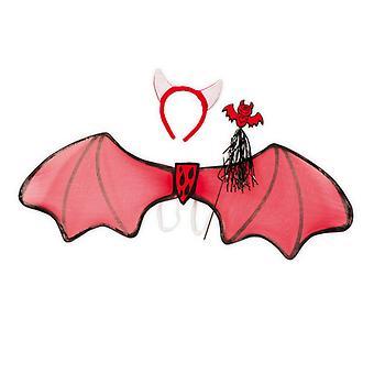 Devil angi 3 PCer vinger 85cm pannebånd med horn bar tilbehør