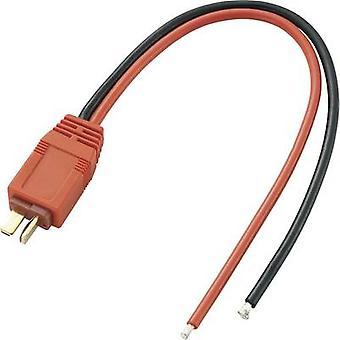 VOLTCRAFT Battery Lead [1x High voltage T plug - 1x Open cable ends] 20.00 cm 2.50 mm² 207926