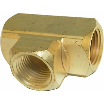 Big A Service Line 3-20180 Brass Pipe, Tee Fitting 1/2