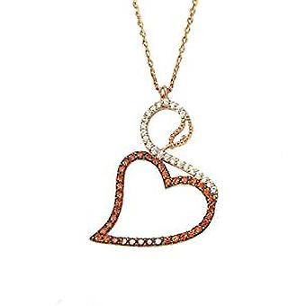 Swan necklace rose gold plated silver pendant