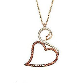 Лебедя ожерелье розовое золото позолоченный Серебряный кулон