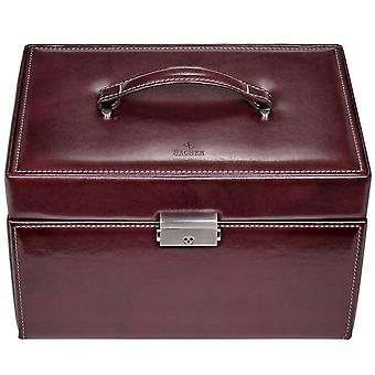 Sacher jewelry case jewelry box FLOR AGE bordeaux lock drawers