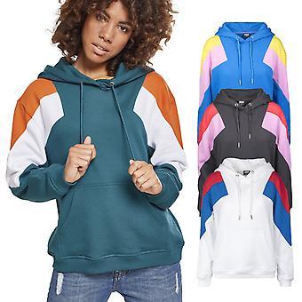 Urban classics ladies - oversize 3-tone block Fleece Hoody