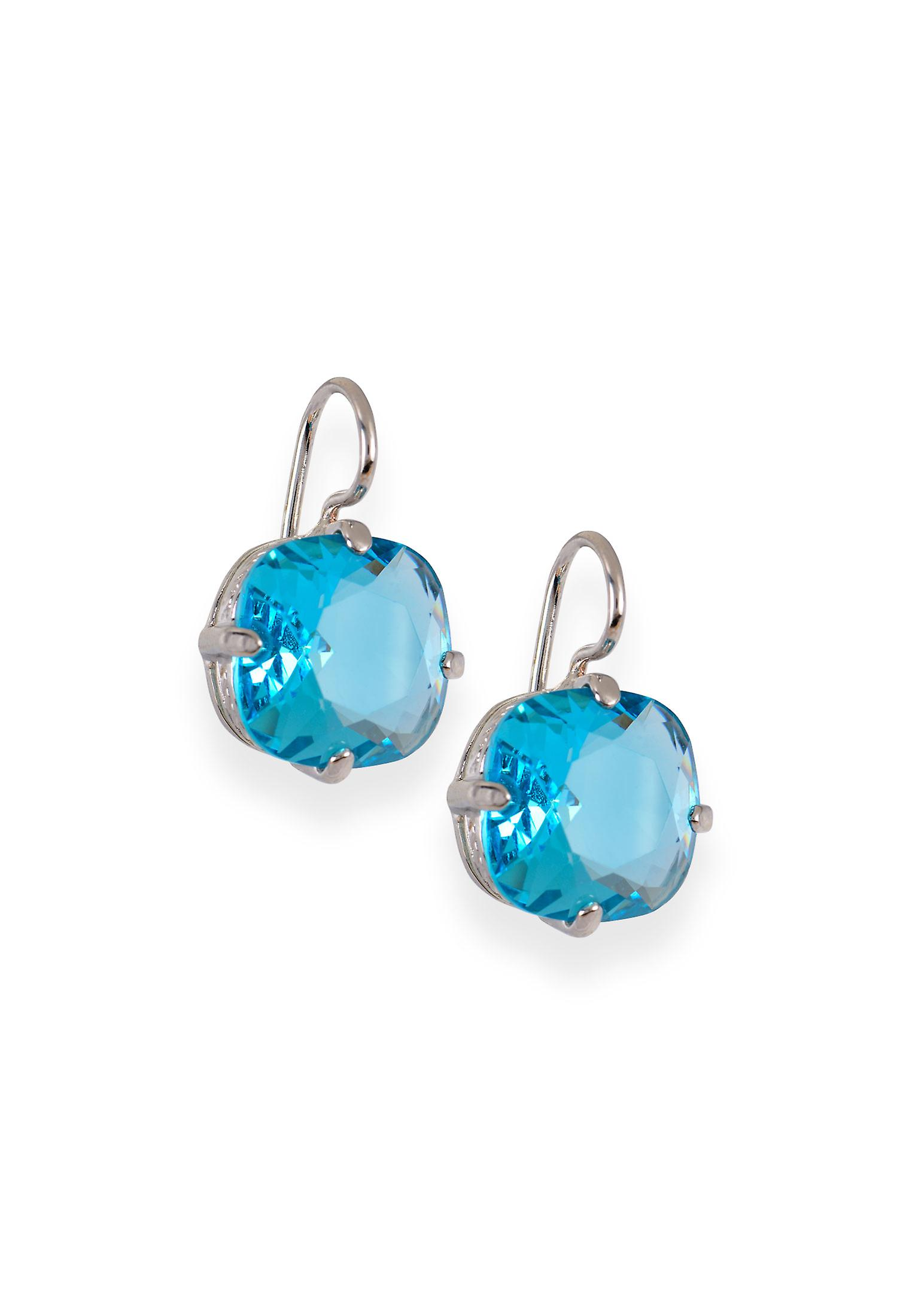 Blue earrings with crystals from Swarovski 354