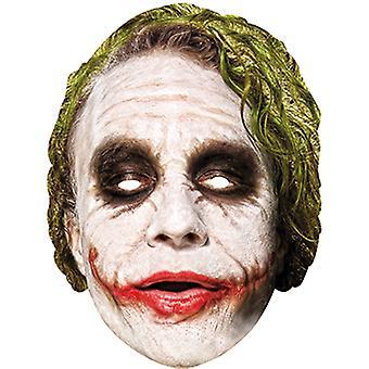 El comodín máscara hecha de cartón para adultos