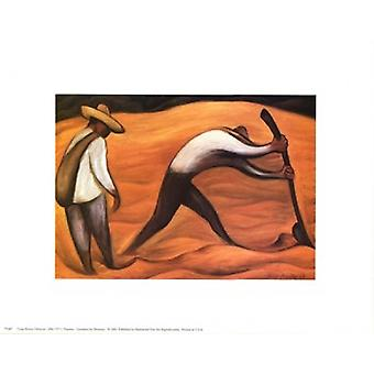 Peasants Poster Print by Diego Rivera (10 x 8)