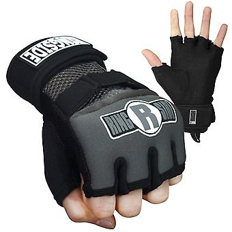 Ringside Gel Shock Boxing Glove Wraps - Gray/Black
