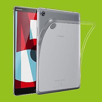 Voor Huawei MediaPad M5 8.4 doorzichtige zak mouw TPU silicone gevaldekking van dun
