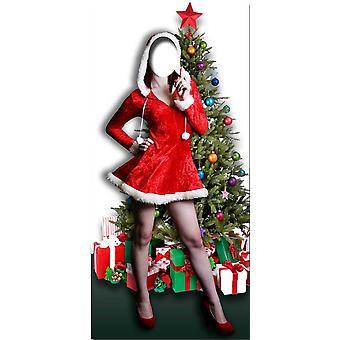 Fru Christmas Stand-in-Lifesize kartong släppandet / stående