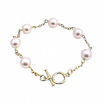 Rosaline parels armband 22k goud vergulde armband bruids armband