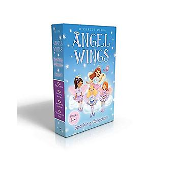 Anioł Wings musujące kolekcji książek 1-4: nowych przyjaciół; Urodzinowa niespodzianka; Tajemnice i szafiry; Tęcze i Halo (Angel Wings)