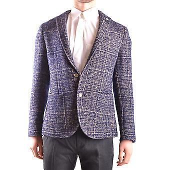Manuel Ritz Ezbc128012 Men's Blue Wool Blazer