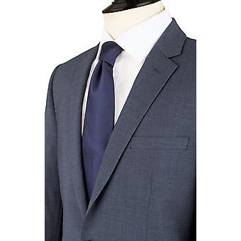 Chaqueta de traje azul de Dobell Mens Mississippi Slim Fit solapa de la muesca