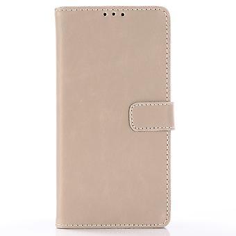 Samsung Galaxy S10 + Retro Wallet Caso-Gris