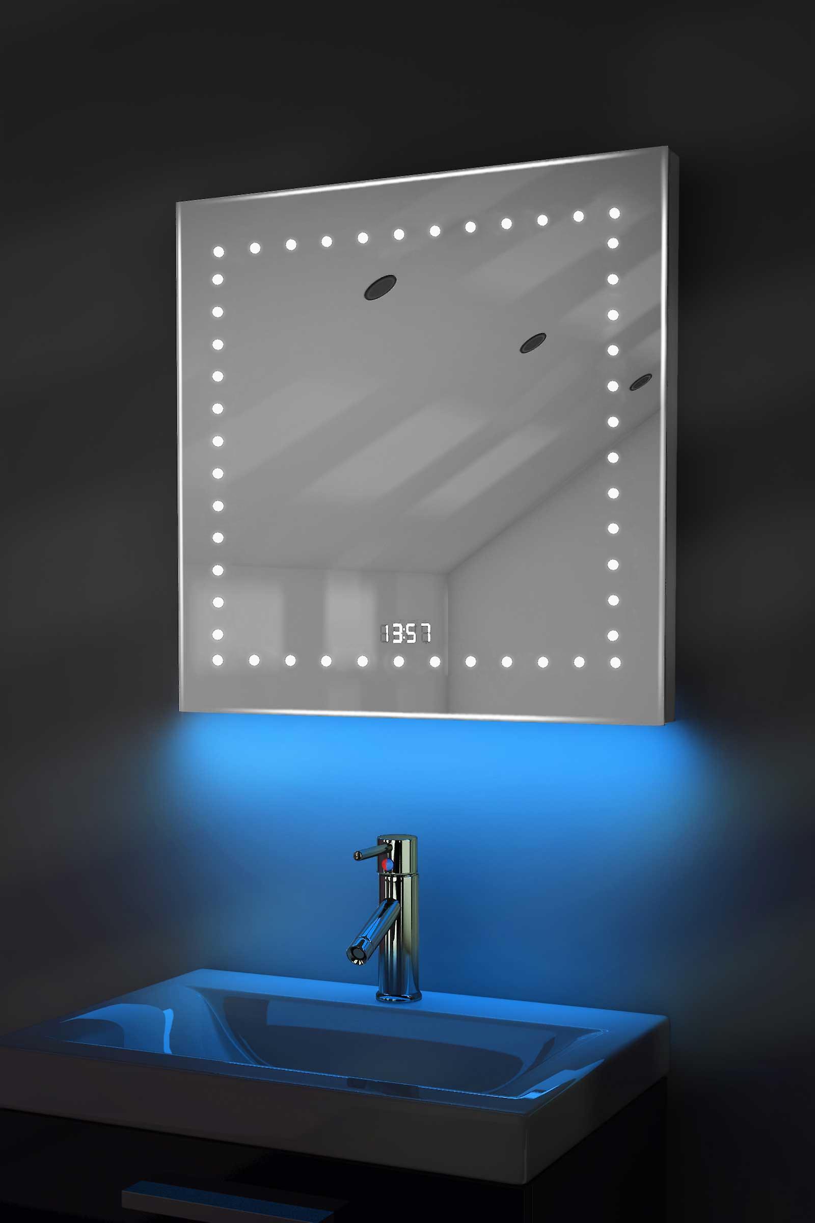 Digital Clock Shaver Mirror with RGB Lighting, Demist & Sensor k183rgb
